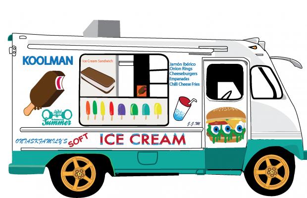 Cartoon Food Truck Temple