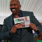 Steve Harvey's New Hustle:  Sugar…Coated…Bacon.  Bruh…