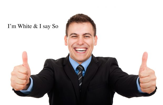 Handsome young business man hold hand with thumb up gesture, businessman excited happy smile, wear elegant shirt and tie isolated over white background; Shutterstock ID 113847541; PO: aol; Job: production; Client: drone